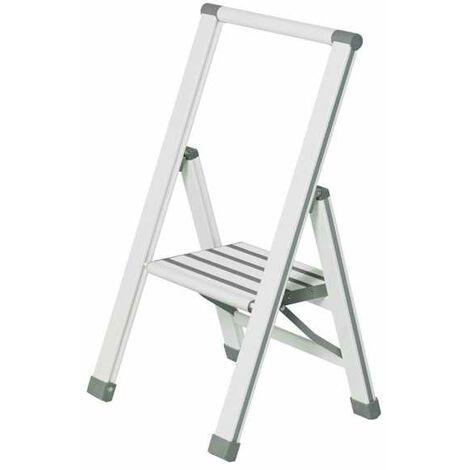 Aluminium design folding stepladder 1-step white WENKO
