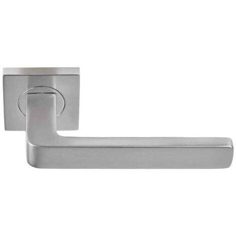 Aluminium door handle - Soho - Nickel plated finish