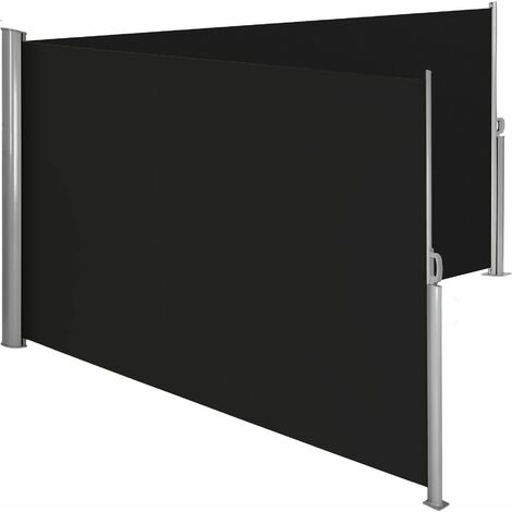 Aluminium double side awning privacy screen - privacy screen, garden privacy screen, patio awning