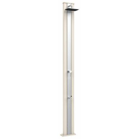 Aluminium Dusche Spring S Sand und Inox cm 26x12x228 ARKEMA DESIGN - prodotto made in Italy CV-A225/9001-I
