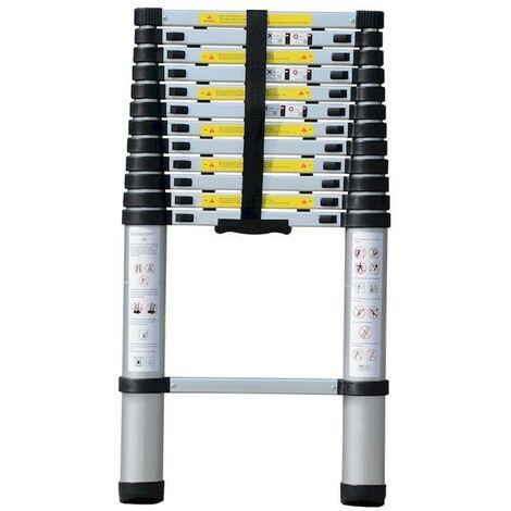 Aluminium échelle télescopique 2.6m 150 kg 1x 9 ...