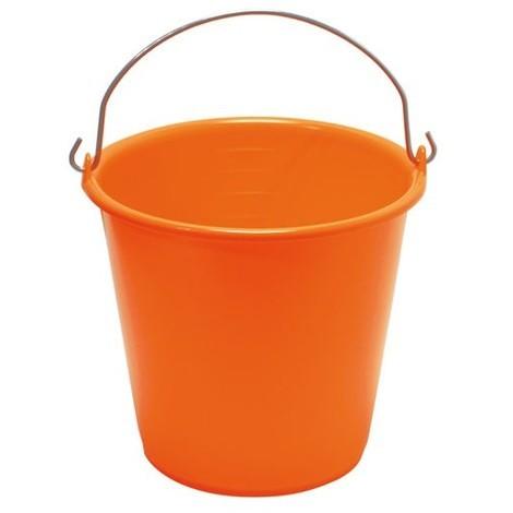 ALUMINIUM ET PLASTIQUE - Seau de ménage gradué - 10 L - orange