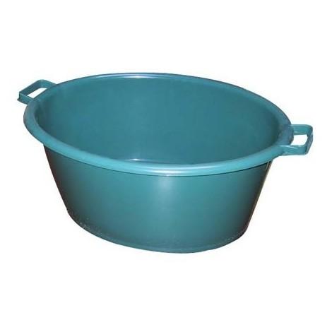 ALUMINIUM ET PLASTIQUE - Baquet ovale 45L 62x50cm - vert