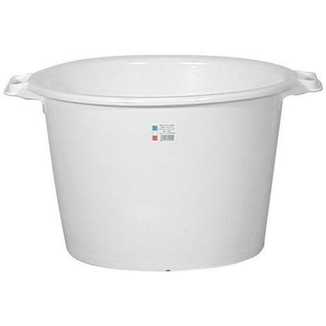 ALUMINIUM ET PLASTIQUE - Baquet rond 55 L - D: 55 cm - H 36 cm - blanc