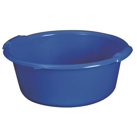 ALUMINIUM ET PLASTIQUE - Bassine ronde 14 L - D: 41 cm - H 17.5 cm - bleu