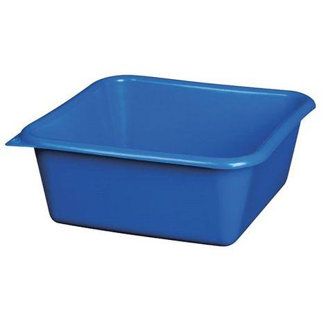 ALUMINIUM ET PLASTIQUE - Cuvette carrée - 29 cm - 6.5 L - bleu
