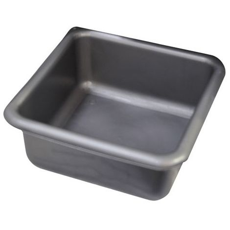 ALUMINIUM ET PLASTIQUE - Cuvette carrée - 29 cm - 6.5 L - gris