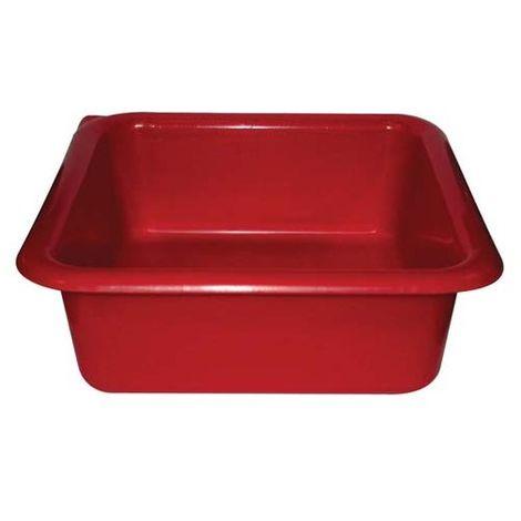 ALUMINIUM ET PLASTIQUE - Cuvette carrée - 29 cm - 6.5 L - rouge