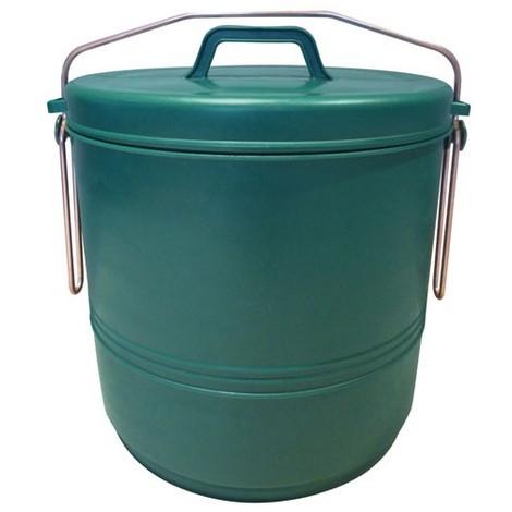 ALUMINIUM ET PLASTIQUE - Poubelle de 16L Verte