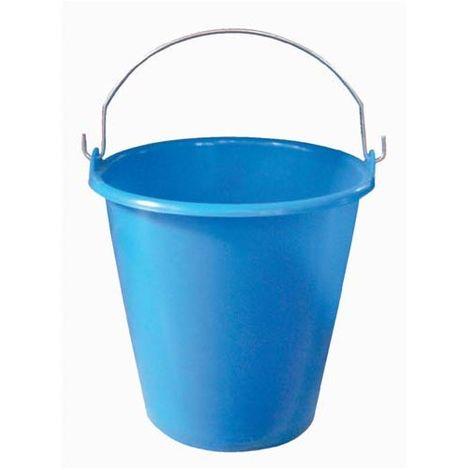 ALUMINIUM ET PLASTIQUE - Seau de ménage avec anse en métal - 5 L - bleu pailleté