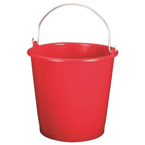 ALUMINIUM ET PLASTIQUE - Seau de ménage gradué - 10 L - rouge
