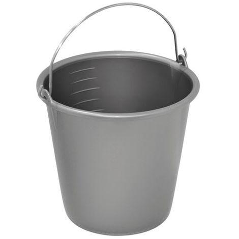 ALUMINIUM ET PLASTIQUE - Seau de ménage gradué - 12 L - gris