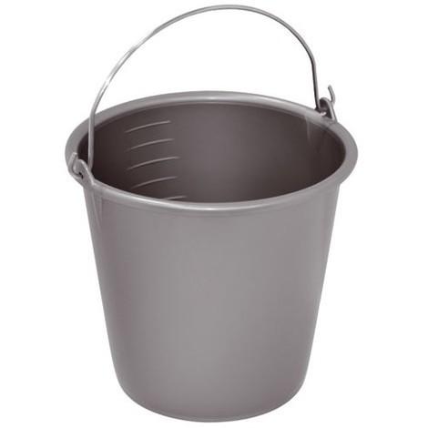 ALUMINIUM ET PLASTIQUE - Seau de ménage gradué - 8 L - gris