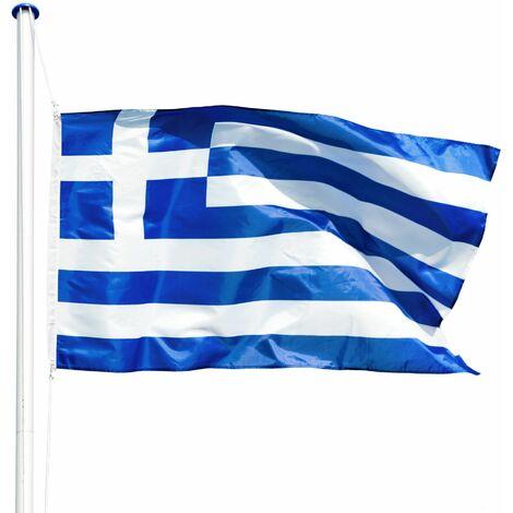 Flagpole aluminium - garden flag pole, flag stand, flag on pole - Greece