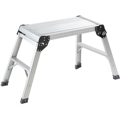 Aluminium Folding Platform Decorator Step Work Bench Ladder, 30x60x50CM