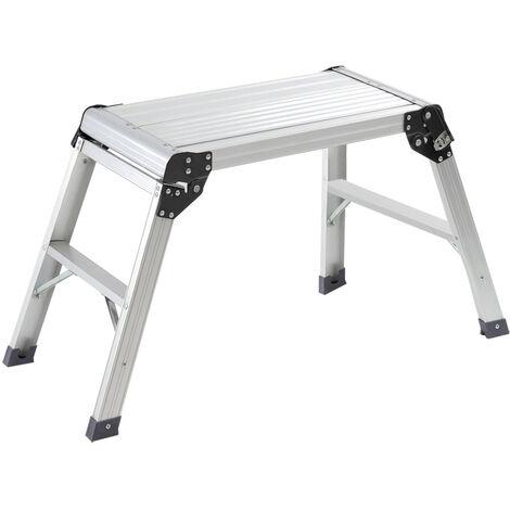 Aluminium Folding Platform Decorator Step Work Bench Ladder, 30x60x50CM