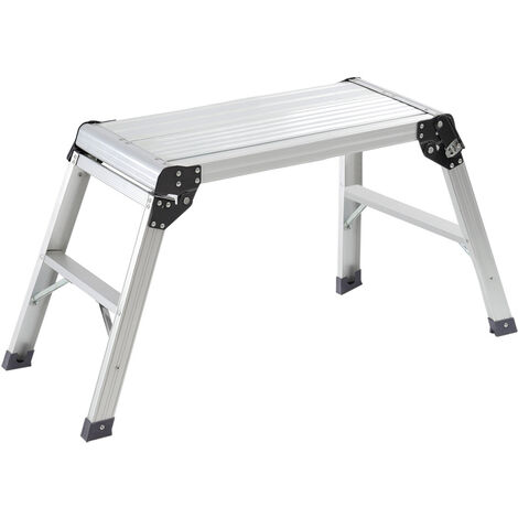 Aluminium Folding Platform Decorator Step Work Bench Ladder, 30x70x50CM