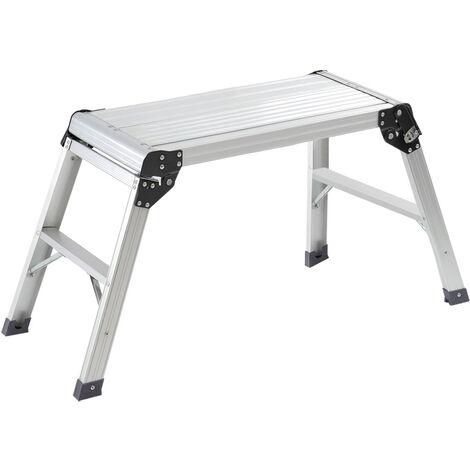 Aluminium Folding Platform Decorator Step Work Bench Ladder, 30x70x50CM
