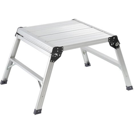 Aluminium Folding Platform Decorator Step Work Bench Ladder, 60x60x50CM