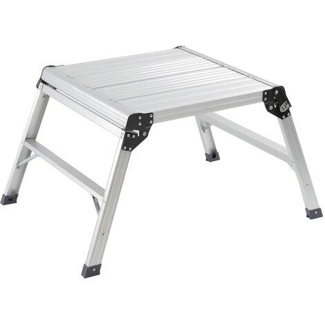 Aluminium Folding Platform Decorator Step Work Bench Ladder, 60x60x50CM
