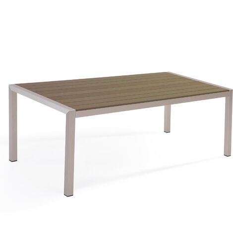 Aluminium Garden Table 180 x 90 cm Brown VERNIO