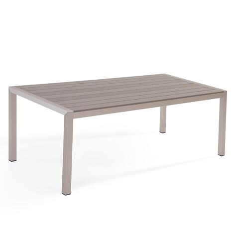 Aluminium Garden Table 180 x 90 cm Grey VERNIO