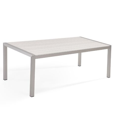 Aluminium Garden Table 180 x 90 cm White VERNIO