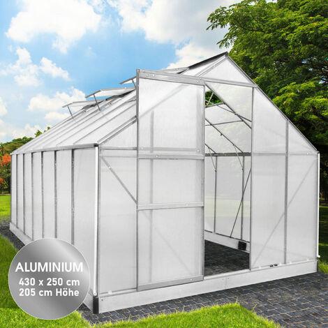 Aluminium-Gewächshaus 05 430x250x205