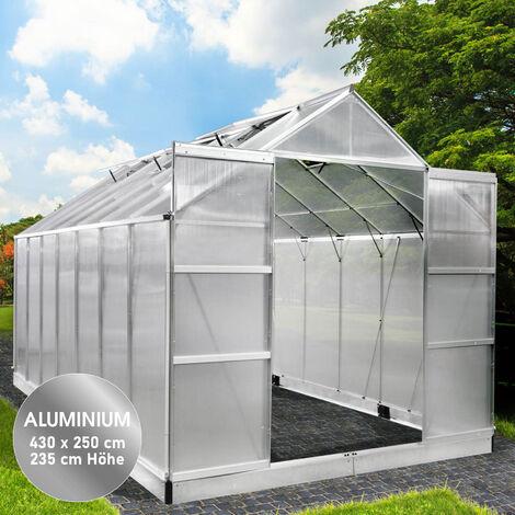 Aluminium-Gewächshaus 13 430x250x235