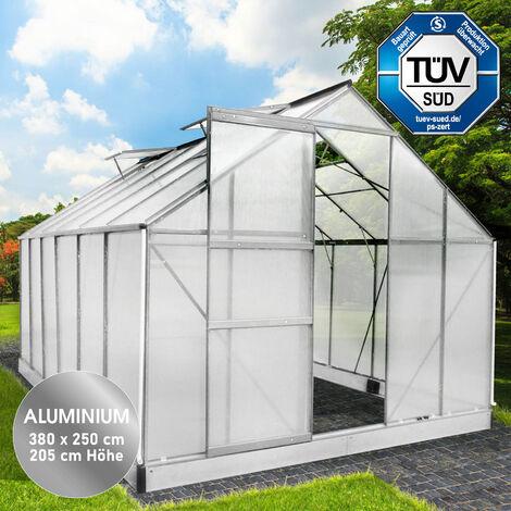 Aluminium-Gewächshaus 380x250x205