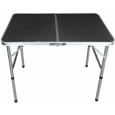 Aluminium Klapptisch 'Bergen' Campingtisch 90x60cm Anthrazit Gartentisch Beistelltisch Falttisch Picknicktisch Alutisch faltbar