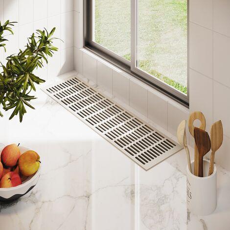 Türgitter Badlüftung aus Kunststoff  290 x 125 mm Weißaluminium