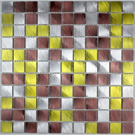aluminium mosaic tiles kitchen ma-alu25-dor