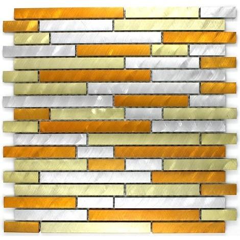 aluminium mosaic tiles kitchen ma-ble-gol