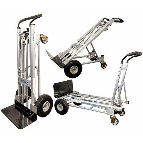 Aluminium Multifunktions-Sackkarre 3-in-1 454 kg Alu Sack-Karre Plattformwagen Transport Hand-Karre