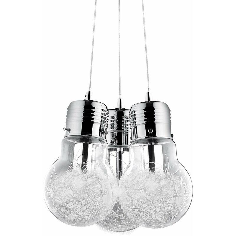 Aluminium Pendelleuchte LUCE MAX 3 Lampen