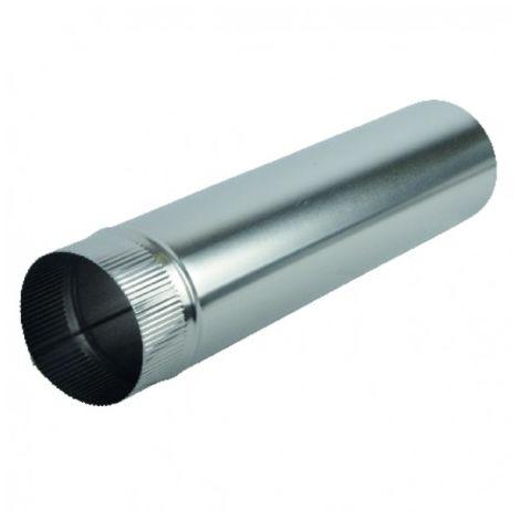 Aluminium pipe Ø125mm x 0.50m - ISOTIP JONCOUX : 011212