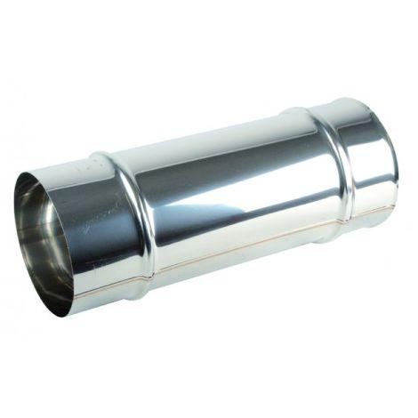 Aluminium pipe Ø125mm x 0.50m - ISOTIP JONCOUX : 031312
