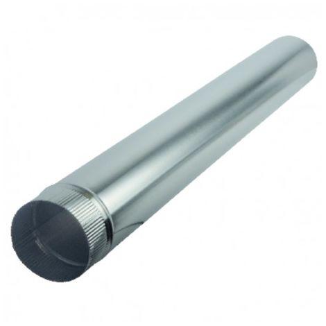 Aluminium pipe Ø125mm x 1.00m - ISOTIP JONCOUX : 011012