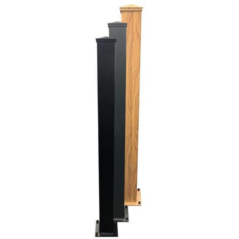 Aluminium Post 100x2400mm Wood