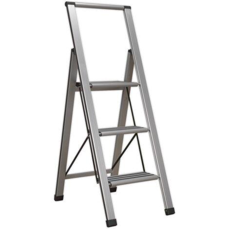 Aluminium Professional Folding Step Ladder 3-Step 150kg Capacity