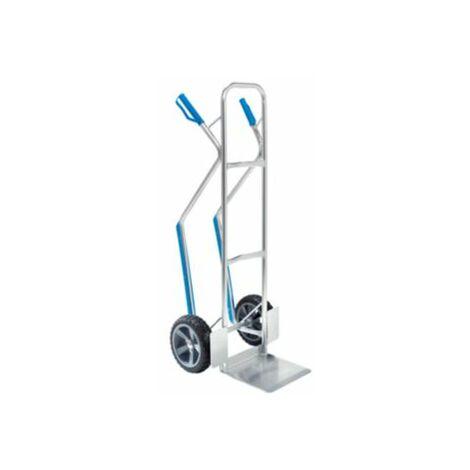 Aluminium-Sackkarre EASY - mit Gleitkufen und fester Schaufel - Tragfähigkeit