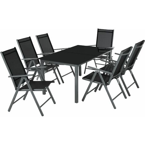 Aluminium Sitzgruppe 6 1 Gartentisch Gartenstuhl Sitzbank