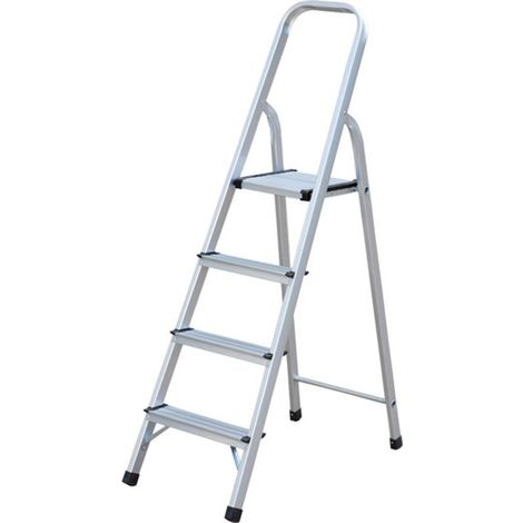 Aluminium Step Ladders 4 Step Ladder DIY Decorating Painting Platform Steps