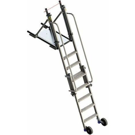 Aluminium Stufenabstieg höhenverstellbar mit Plattform (in verschiedenen Größen erhältlich)
