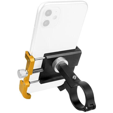 Aluminium Support De Telephone Mobile, Noir Et Or