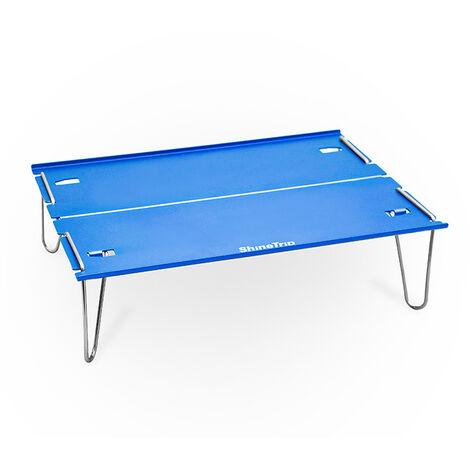 Aluminium Table Pliante De Camping En Plein Air, Bleu