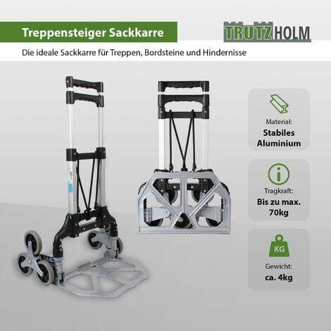 Aluminium Treppensackkarre klappbar 70 kg Treppensteiger Transportkarre Stapelkarre Treppen-Sackkarre