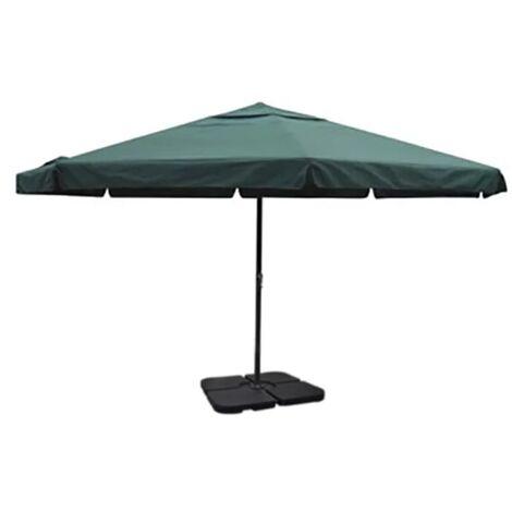 Aluminium Umbrella with Portable Base Green