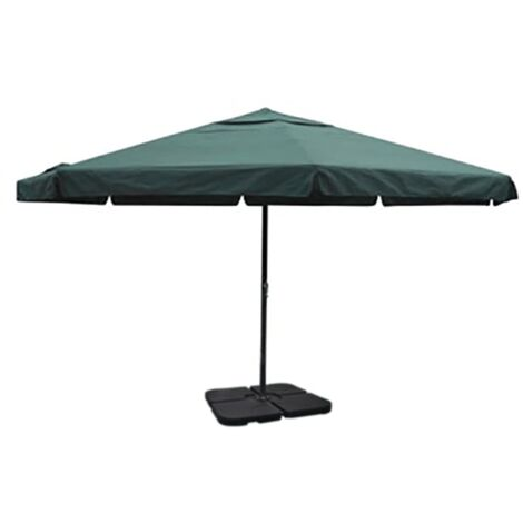 Aluminium Umbrella with Portable Base Green - Green